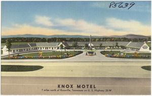 Knox Motel, 7 miles north of Knoxville, Tennessee, on U.S. Highway 25-W