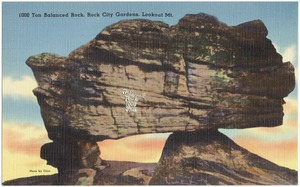 1000 Ton Balanced Rock, Rock City Gardens, Lookout Mt.