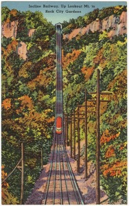 Incline Railway, up Lookout Mt. to Rock City Gardens