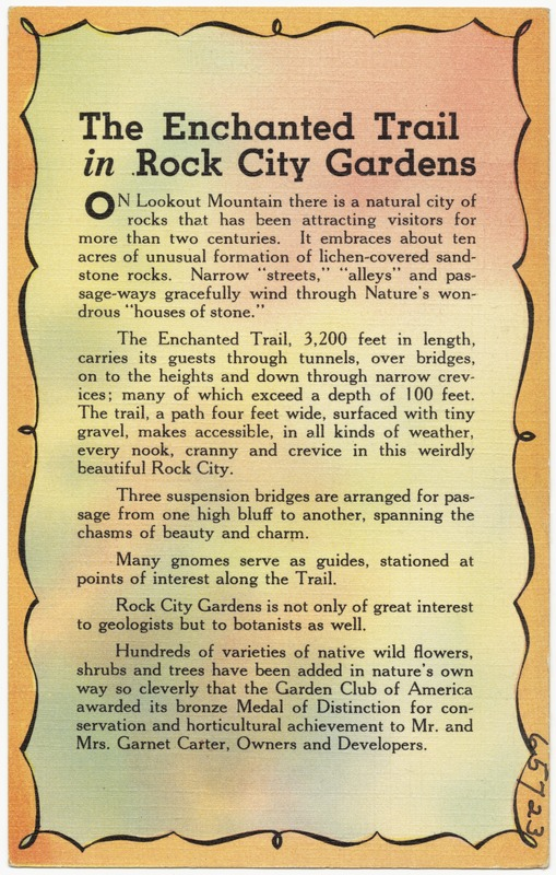 The Enchanted Trail in Rock City Gardens