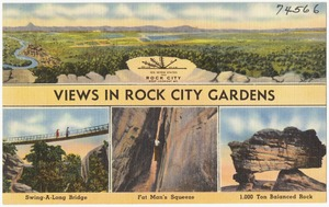 View in Rock City Gardens