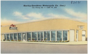Harley-Davidson Motorcycle Co. (Inc.), on Hiway 66 -- 1209 W. 6th