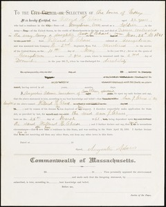 Letter concerning death of Williard H. Chase and need for support for his daughter Ann J. Chase