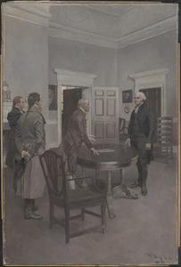 Thompson, the Clerk of Congress, announcing to Washington, at Mount Vernon, his election to the presidency