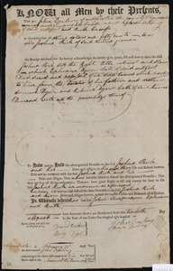 Deed of property in Truro sold to Joshua Rich of Truro by John Darling, Temperance Darling (wife of John), Ephraim Avery, and Ruth Avery (wife of Ephraim) of Wellfleet