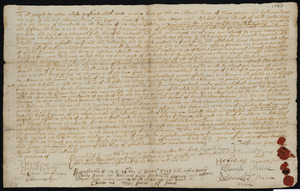 Deed of property in Eastham sold to Jonathan Sparrow of Eastham by Elkanah Paine, Reliance Paine, Zephon Aimos, and Elizabeth Aimes of Truro (Paine), Provincetown (Aimos)