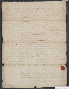 Deed of property in Sandwich sold to Cornelious Weeks of Sandwich by Jabez Blossom of Sandwich