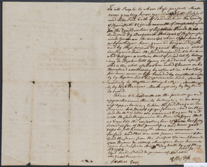 Deed of property in Sandwich sold to Benjamin Percival by Nathaniel Fish and Ellis Fish of Sandwich