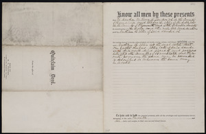 Deed of property in Sandwich sold to Nathan Ellis by Martha Perry and Rufus Ellis of Sandwich
