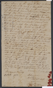Deed of property in Truro sold to Josh (Joshua) Rich of Truro by Hannah Pane (Paine, widow of Jedidaih Pane), Hezehiah Pane, Shebna Pane, Sarah Pane, Mary Pane, and Hannah Pane (all heirs) of Truro