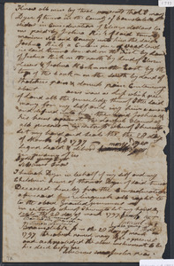 Deed of property in Truro sold to Joshua Rich of Truro by Mary Dyer of Truro