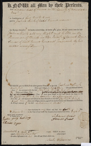Deed of property in Truro sold to Joshua Rich of Truro by Silvannus Snow of Truro