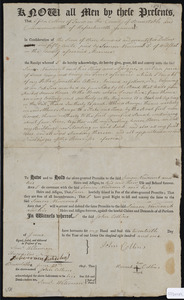 Deed of property in Truro sold to Simon Newcomb 3rd of Wellfleet by John Collins of Truro