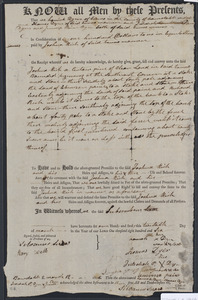 Deed of property in Truro sold to Joshua Rich of Truro by Hannah Dyer, Thomas Dyer, Jedediah Paine Dyer, and Jemima Paine Dyer of Truro