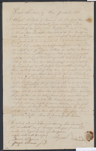 Deed of property in Truro sold to Thomas Paine and Shebna Rich of Truro by Abigail Chandler of Truro