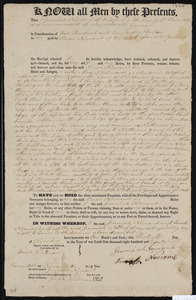 Deed of property in Wellfleet/Truro sold to Simon Newcomb of Wellfleet by Jeremiah Newcomb of Wellfleet