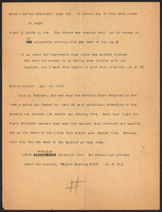 Herbert Brutus Ehrmann Papers, 1906-1970. Sacco-Vanzetti. James E. King: letter, July 29, 1927. Box 13, Folder 2, Harvard Law School Library, Historical & Special Collections