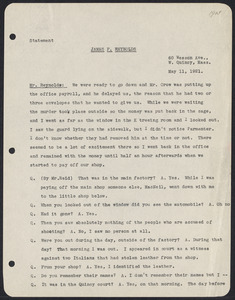 Herbert Brutus Ehrmann Papers, 1906-1970. Sacco-Vanzetti. Fred H. Moore: papers. Box 13, Folder 13, Harvard Law School Library, Historical & Special Collections