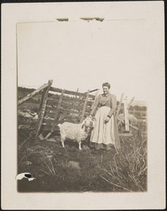 Annie Middlebrook and a Very Special Sheep
