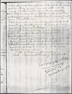 1876 Town Meeting Minutes, Discontinue Roads