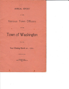 Annual Report of the Town of Washington 1901