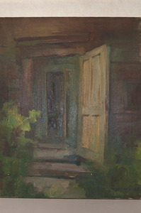 Painting of Schoolhouse Doorway