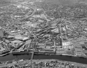 Big view of Lowell looking south from Centralville over downtown Lowell and beyond