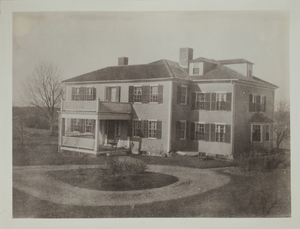 First View of William Jones House (currently Drumlin Farm offices), c. 1907.