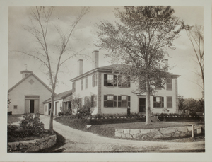 First view of Brooks Tavern, Minute Man National Historical Park, c. 1880.