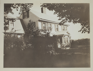 Second view of Ephraim Hartwell House, Minute Man National Historical Park, c. 1935.