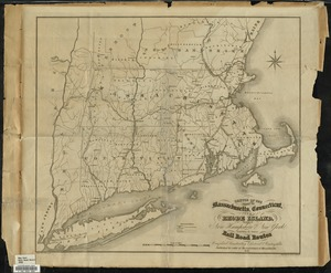 Sketch of the states of Massachusetts, Connecticut, and Rhode Island, and parts of New Hampshire & New York exhibiting the several rail road routes completed, constructing, chartered & contemplated
