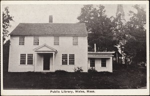 Public library, Wales, Mass.