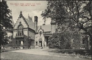 Wellesley Free Library and town hall, Wellesley, Mass.