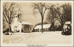 Second Parish Church and library. West Boxford, Massachusetts