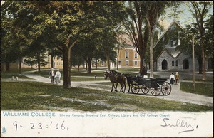 Williams College. Library campus, showing east college, library and Old College Chapel