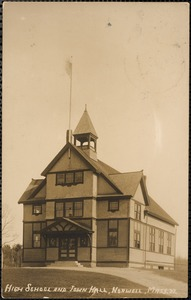 High school and town hall, Norwell, Mass.