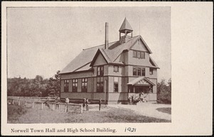 Norwell town hall and high school building