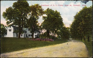 Residence of A.L. Power Main St. Norwell, Mass.