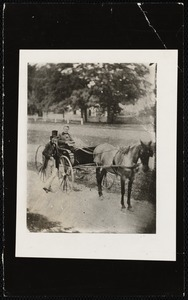 Charles Sedgwick, standing: Henry W. Bishop in buggy