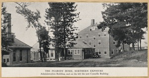 Villages of Newton, MA. Oak Hill. Peabody home, northern exposure, Adminsitration Building, Connelly Building