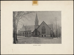 Former Unitarian Church - Lutheran Church, Centre and Cypress Sts., Newton Centre