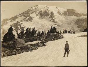 """Male identified as """"himself"""" at Mt. Rainier in month of July"""