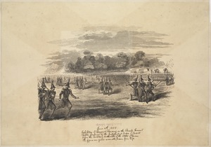 Exhibition of bayonet fencing on the parade ground, Boston Common, by the independent corps of cadets before the military authorities of the State of Massachusetts. The figures are quite accurate, drawn from life. Compromise of 1850 to Fort Sumter
