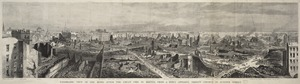 Panoramic view of the ruins after the Great Fire in Boston, from a point opposite Trinity Church in Summer Street