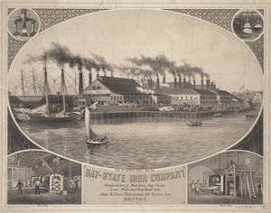 Bay-State Iron Company. View of works, South Boston