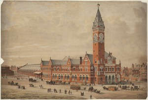 Boston & Providence passenger station, Columbus Ave.
