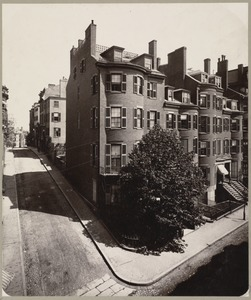 Boston, Massachusetts. Old Chase House, corner of Beacon and Bowdoin Streets