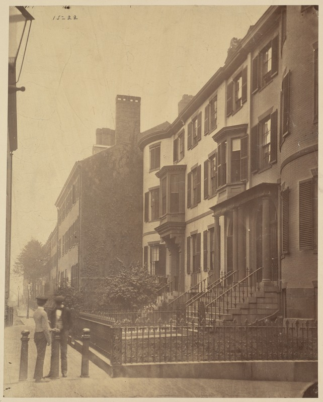 Beacon Hill Place, from Bowdoin St., 1855. Razed June, 1893