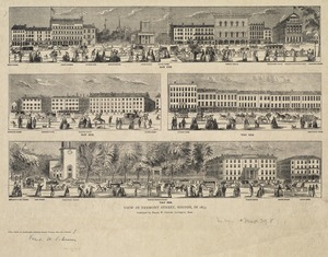 View in Tremont Street, Boston, in 1853