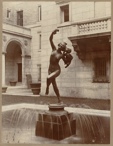 Bacchante (the sculpture in the fountain of the courtyard)